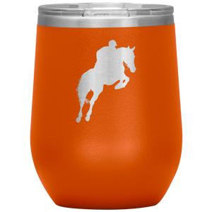 Wine Tumbler - Jumper Classic Clear Round Class - Orange