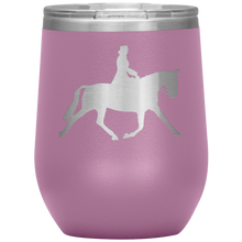 Load image into Gallery viewer, Wine Tumbler - Dressage Extended Trot - Light Purple