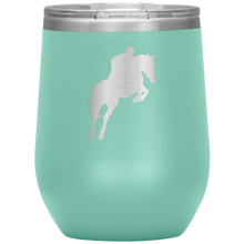 Load image into Gallery viewer, Wine Tumbler - Jumper Classic Clear Round Class - Teal