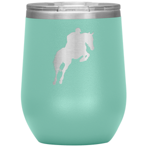 Wine Tumbler - Jumper Classic Clear Round Class - Teal