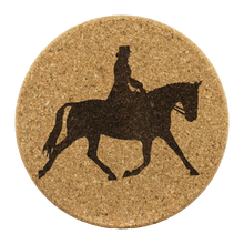 Load image into Gallery viewer, Cork Coasters: Dressage Extended Trot - Genuine Cork