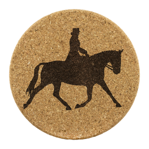 Cork Coasters: Dressage Extended Trot - Genuine Cork