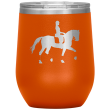 Load image into Gallery viewer, Wine Tumbler - Dressage Collected Trot - Orange