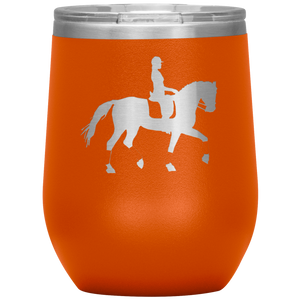 Wine Tumbler - Dressage Collected Trot - Orange