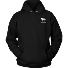 Load image into Gallery viewer, iDressage Hoodie - Horses Lift You Up - Front Black