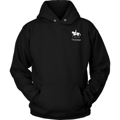 iDressage Hoodie - Horses Lift You Up - Front Black