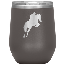 Load image into Gallery viewer, Wine Tumbler - Jumper Classic Clear Round Class - Pewter