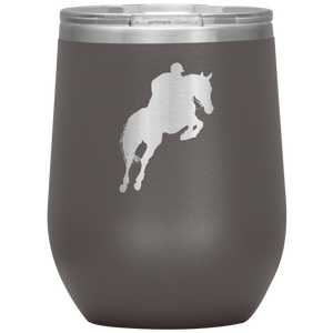 Wine Tumbler - Jumper Classic Clear Round Class - Pewter