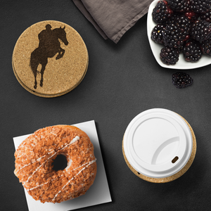 Protect your table with Equestrian Jumper Classic Cork Coasters