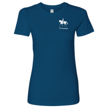 Load image into Gallery viewer, T-Shirt for Women - iDressage Series Collected Trot - Cool Blue