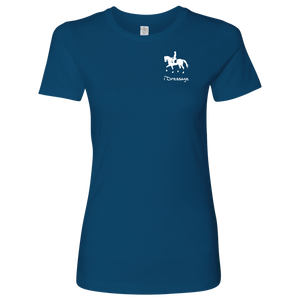 T-Shirt for Women - iDressage Series Collected Trot - Cool Blue