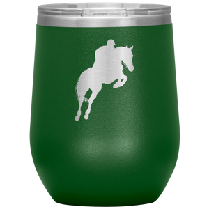 Wine Tumbler - Jumper Classic Clear Round Class - Green