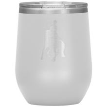 Load image into Gallery viewer, Wine Tumbler - Dressage Canter Pirouette - White