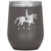 Load image into Gallery viewer, Wine Tumbler - Dressage Collected Trot - Pewter