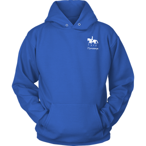 iDressage Hoodie - Horses Lift You Up - Front - Royal Blue