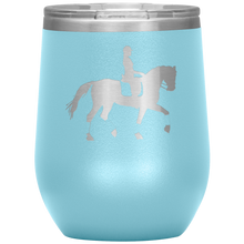 Load image into Gallery viewer, Wine Tumbler - Dressage Collected Trot - Light Blue