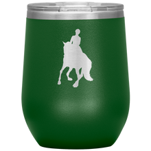 Load image into Gallery viewer, Wine Tumbler - Dressage Canter Pirouette - Green