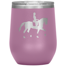Load image into Gallery viewer, Wine Tumbler - Dressage Collected Trot - Light Purple