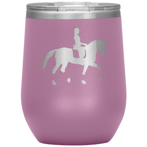 Wine Tumbler - Dressage Collected Trot - Light Purple