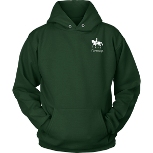 iDressage Hoodie - Horses Lift You Up - Front - Dark Green