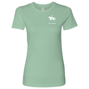 T-Shirt for Women - iDressage Series Collected Trot - Mint