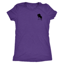 Load image into Gallery viewer, Tee Shirt Womens Triblend: Just Jump It - Purple Rush