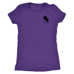 Tee Shirt Womens Triblend: Just Jump It - Purple Rush