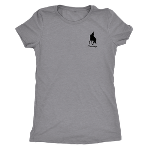 Tee Shirt Womens: iDressage Horse Graphic - Heather Grey