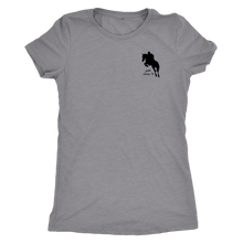 Load image into Gallery viewer, Tee Shirt Womens Triblend: Just Jump It - Heather Grey