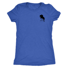 Load image into Gallery viewer, Tee Shirt Womens Triblend: Just Jump It - Vintage Royal Blue