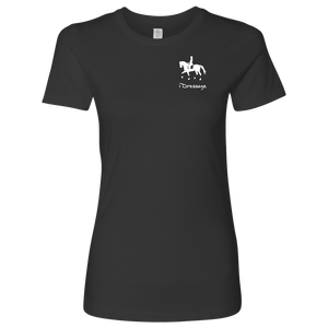 T-Shirt for Women - iDressage Series Collected Trot - Heavy Metal