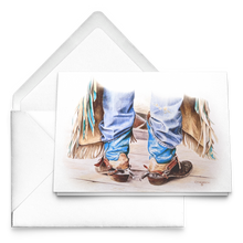 Load image into Gallery viewer, Art Card: Cowboy Boots - Ready to Rodeo Sets of Western Greeting Cards