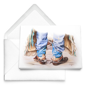 Art Card: Cowboy Boots - Ready to Rodeo Sets of Western Greeting Cards