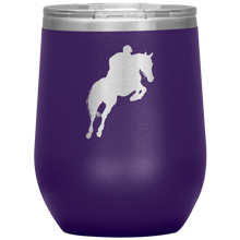 Load image into Gallery viewer, Wine Tumbler - Jumper Classic Clear Round Class - Purple