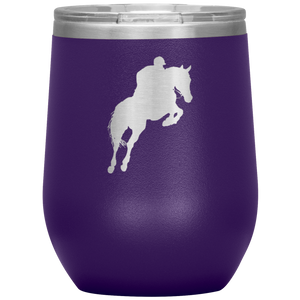 Wine Tumbler - Jumper Classic Clear Round Class - Purple