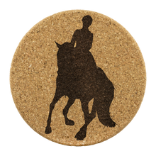 Load image into Gallery viewer, Cork Coasters: Dressage Canter Pirouette