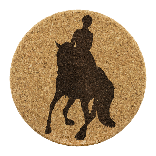 Cork Coasters: Dressage Canter Pirouette