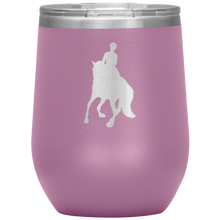 Load image into Gallery viewer, Wine Tumbler - Dressage Canter Pirouette - Light Purple