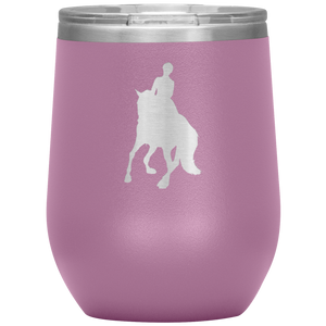 Wine Tumbler - Dressage Canter Pirouette - Light Purple