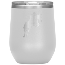 Load image into Gallery viewer, Wine Tumbler - Jumper Classic Clear Round Class - White