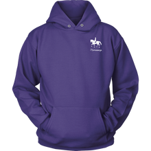 Load image into Gallery viewer, iDressage Hoodie - Horses Lift You Up - Front - Purple