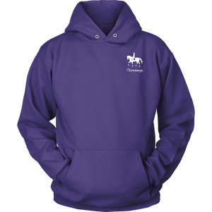 iDressage Hoodie - Horses Lift You Up - Front - Purple