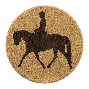 "Cork Coasters: Dressage Working Trot - 3.75"" Diameter x 0.375"" Thick"