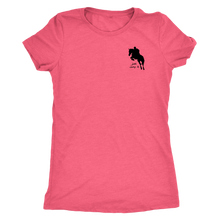 Load image into Gallery viewer, Tee Shirt Womens Triblend: Just Jump It - Vintage Light Pink