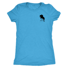 Load image into Gallery viewer, Tee Shirt Womens Triblend: Just Jump It - Vintage Turquoise