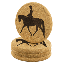 Load image into Gallery viewer, Cork Coasters: Dressage Working Trot - Set of 4