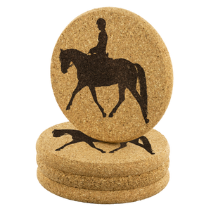 Cork Coasters: Dressage Working Trot - Set of 4