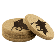 Load image into Gallery viewer, Cork Coasters: Dressage Canter Pirouette 4/pkg