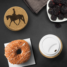 Load image into Gallery viewer, Save your table top with Real Cork Coasters - Dressage Theme