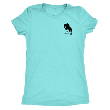 Load image into Gallery viewer, Tee Shirt Womens Triblend: Just Jump It - Tahiti Blue